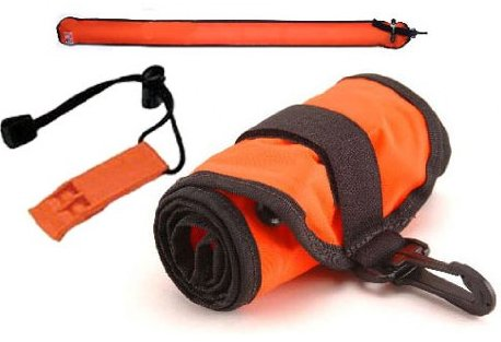 Scuba Diver Signal Tube Marker Buoy with Inflator & Safety Whistle
