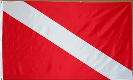 Diver Flag - 3 foot by 5 foot Polyester